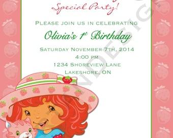 Strawberry Shortcake Birthday 5x7
