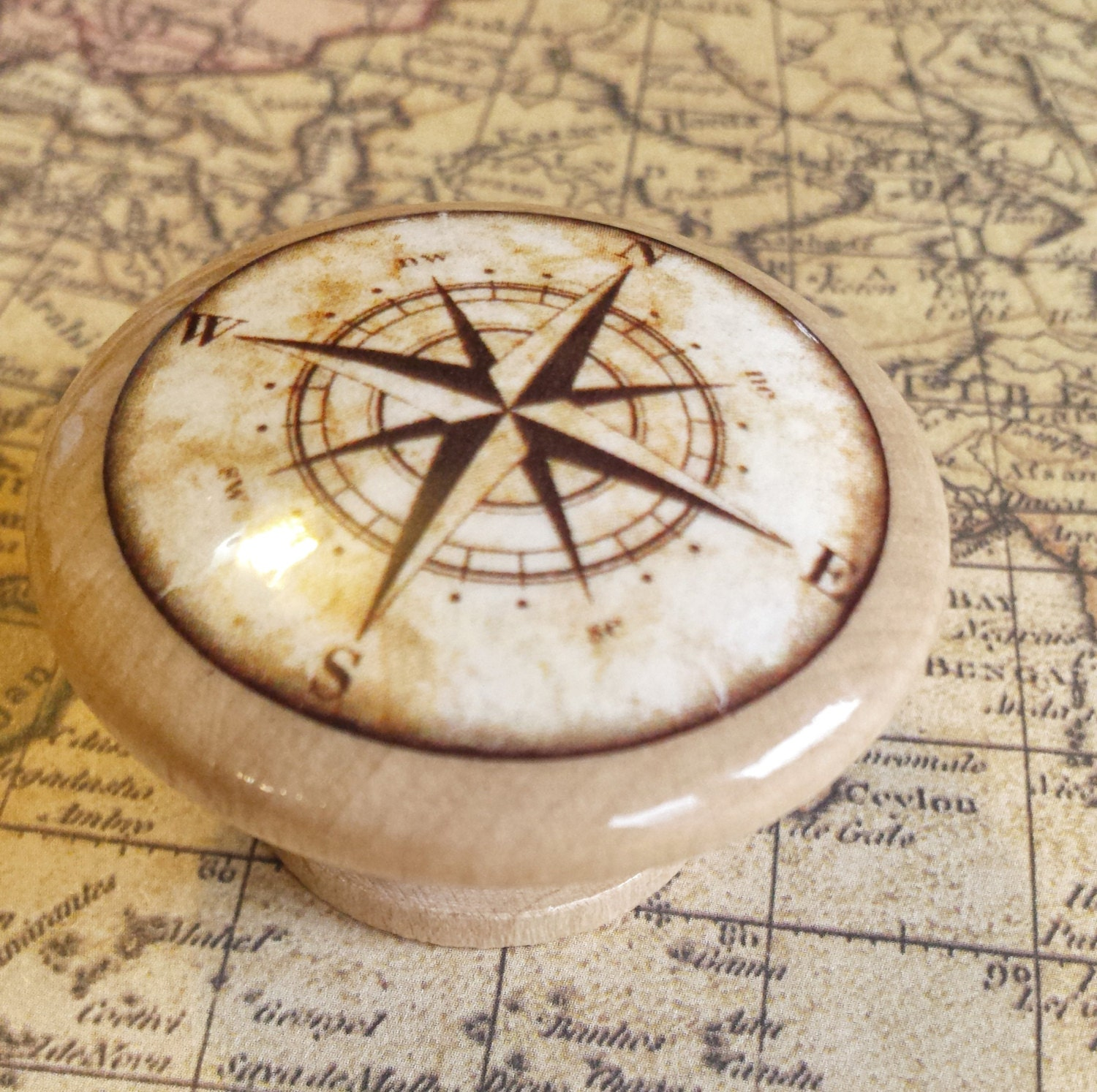 nautical drawer pulls nautical birch wood knob drawer pulls antique style compass 29358