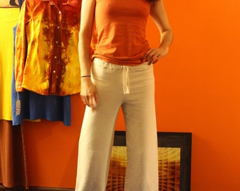 hemp pants - drawstring sweat pants / pajamas - hemp and organic cotton - custom made to order - unisex
