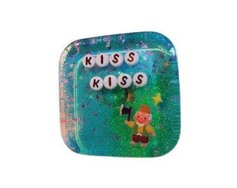 Postcard: Kiss Kiss - Hilarious Card, Weird Postcards, Art Postcards, Postcrossing, Boyfriend Card, Girlfriend Card