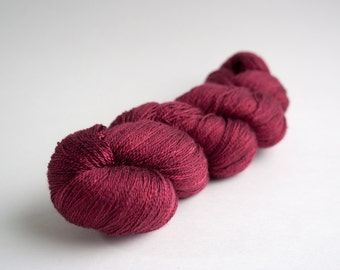 Swiss Silk Lace Yarn, Silk Yarn - Nearly Solid, 735yds - Burgundy