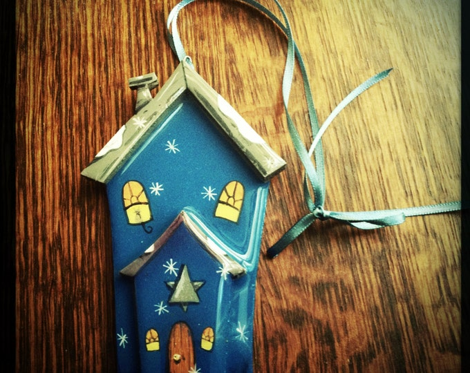 HANUKKAH CHANUKAH DECORATION Handmade House Choose your Custom Colors