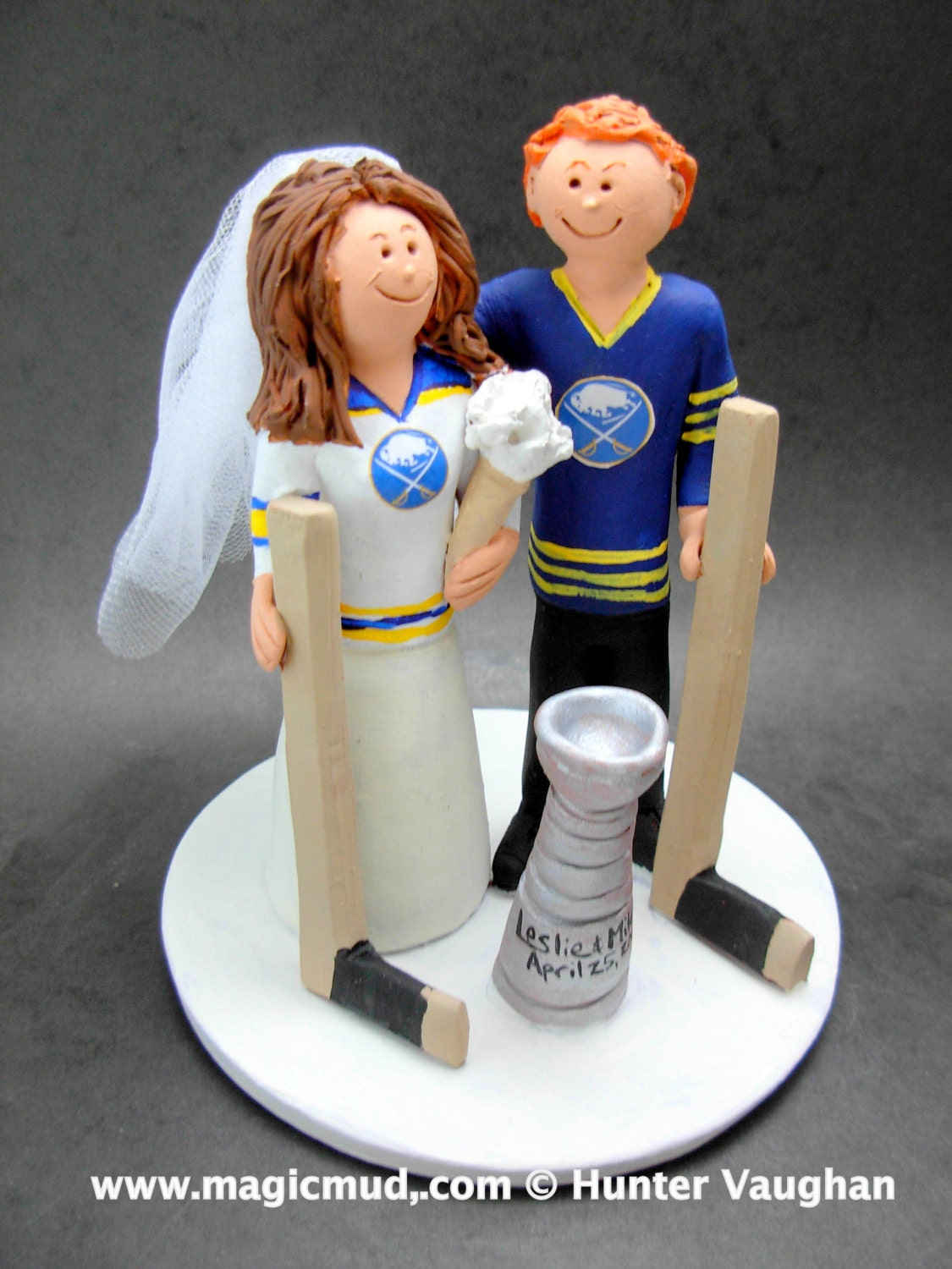 hockey player wedding cake topper buffalo sabres wedding cake topper hockey by 15259