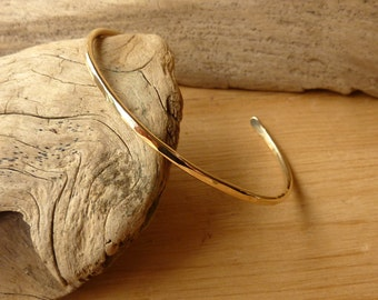 Narrow Hammered Cuff - Gold-Filled