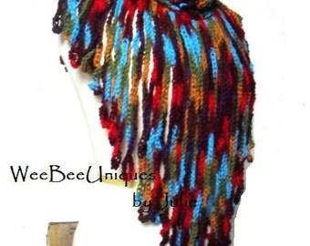 crochet willow scarf winter wear layering fashion ready to ship original designer boho chic hippie fashion