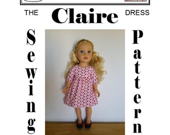 Claire Dress sewing pattern for Journey Girls doll by Dolly Delicacies