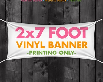 Printed Craft Show Banner 2u0027 x 7u0027 Vinyl Banner Vinyl Banner Printing & Vinyl Craft Show Banner 1x9 Foot Banner for your Tent or