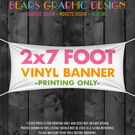 Printed Craft Show Banner, 2' x 7' Vinyl Banner, Vinyl Banner Printing, Hanging Vinyl Banner, Tent Banner, Booth Banner, Table Banner