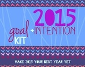 2015 PRINTABLE goal & intention kit