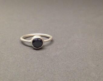 1ct black diamond engagement wedding ring sterling silver wedding ring modern ring simple feminine statement ring