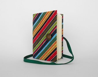 Colorful journal notebook stripes journal diary Handmade journals lined journal writing journal fabric journal notebook colorful stripes