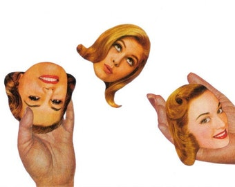 OOAK Original Collage, Odd Artwork, Funny Wall Art, Surreal Wall Decor, Strange Art, One of a Kind Art, Weird Oddity