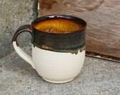10oz Handmade Earthy Tone Pottery Coffee Mug with Texture