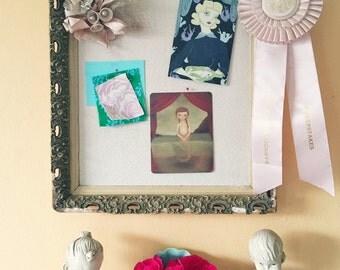 Pin Board, Cork Board, Inspiration Board, Ornate Antique Frame