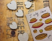"""Romantic Funny foodie """"I only have Pies for You"""" Valentine's Greeting Card"""