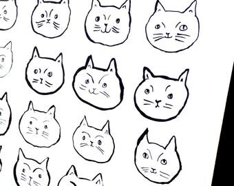 Cat Art Print, Wall art, Wall Decor