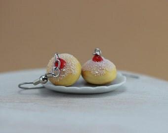 Hanukkah Jelly Donut Earrings