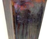 Vase - 4 Sided Purple T Glaze