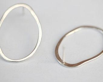 Handmade links post earrings