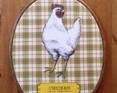8x10 Oval Animal Kingdom Chicken Ready to Hang Artwork