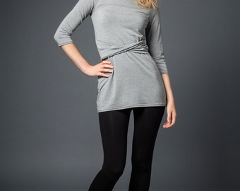 Dasha twist tunic in bamboo jersey