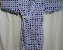 Vintage Japanese Yukata Kimono Robe Cotton Boy's Children - Well Cover 3