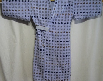 Vintage Japanese Yukata Kimono Robe Cotton Boy's Children - Well Cover 3