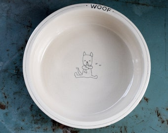 Dog bowl - Personalized and made to order