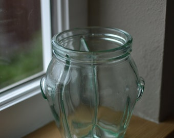 Vintage Glass 3 Divided Container