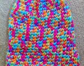 bright multicolour baby beanie
