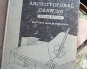 Vintage Architectural Drawing Text Book by LM Patten and ML Rogness 1962