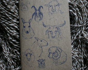 "Set of 10 Sheepish Notebooks,  3.5"" x 5"" 32 blank pages"