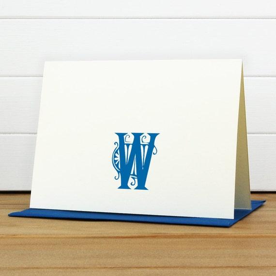 Personalized Stationery Set / Personalized Stationary Set - SULLIVAN Custom Personalized Note Card Set - Monogram Classic Masculine
