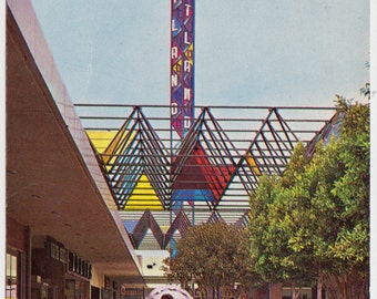 Vintage Postcard of West Covina Mall 1960 Pray for Peace Postmark