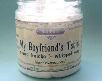 Soap Handmade Fresh Linen Scent My Boyfriends Tshirt 8 oz Creme Fraiche Full Size VEGAN