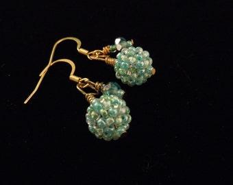 Seed Bead Earrings, Beaded Beads, Peyote Stitch Earrings, Short Dangle, Seed Beads, Casual Earrings