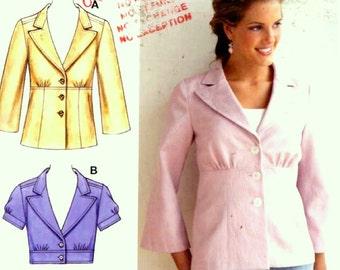 Womens jacket pattern casual chic fitted style sewing pattern Kwik Sew 3529 Sz XS to XL UNCUT