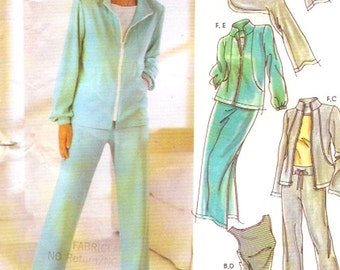 Athletic pants shorts jacket top sewing pattern Casual Home wear Simplicity 5867 Size 6 to 12  or 14 to 22 UNCUT