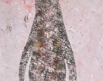 Penguin, Penguin art, Cave Penguin, Penguin Print, Penguin Cave Painting Print, Lost Cave Paintings of Saint Paul, Lost Cave Penguin