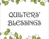 """6"""" x 12"""" Fabric Art Panel - Quilters' Blessings"""