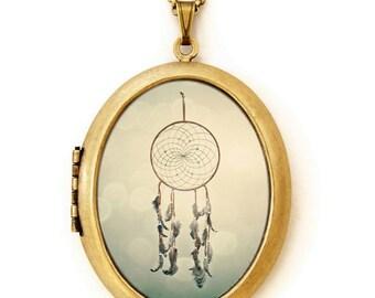 Dreamcatcher - Photo Locket Necklace