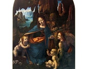 Fine Art Print - The Virgin of the Rock by Leonardo da Vinci - Masterpiece Painting - Reproduction Print - 12 x 10