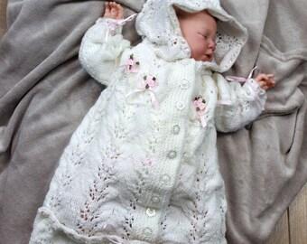 KNITTING PATTERN For Baby Sleeping Bag Knitting Pattern in 2 Sizes PDF 151 Digital Download