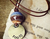 Roam- handmade ceramic landscape necklace