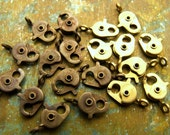 """13mm Lobster Clasps - Solid Brass """"Old Timer"""" - Choose Raw or Antiqued - Patina Queen - 4"""