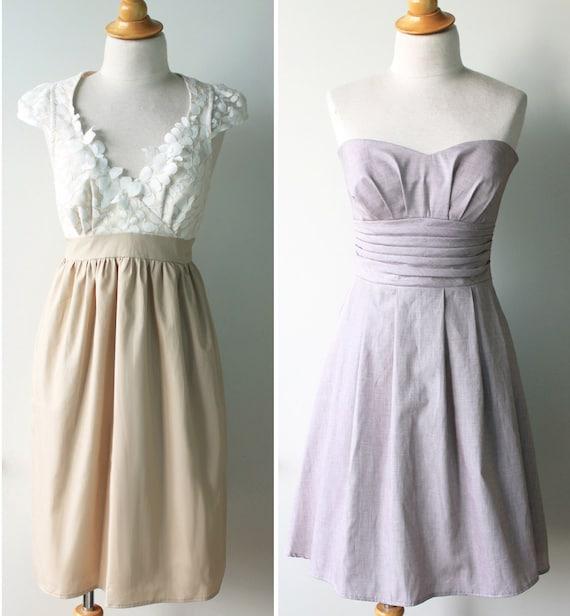 Mix and Match Bridesmaid Dress
