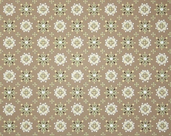 1950s Vintage Wallpaper - Brown and Green Geometric