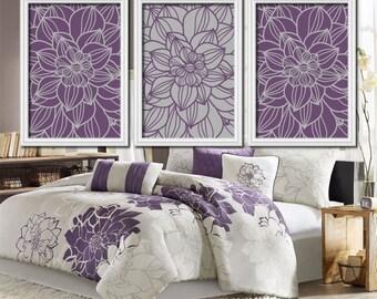 Aqua Gray Bedroom Wall Art Canvas or Prints Bathroom Decor