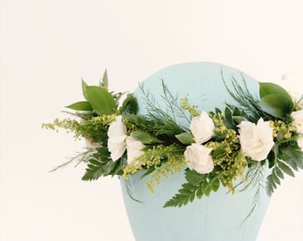 DIY Flower crown kit - Just Add Flowers, Boho hair wreath, Bridal flower wreath, Wedding headpiece, Floral supplies, Make your own crown