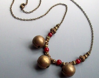 Super SALE! Jingle Bells Necklace Christmas Holiday